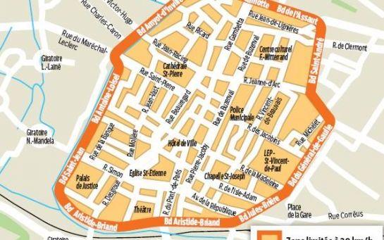 Le centre de beauvais passe 30 ville 30 - Garage de la piscine beauvais ...