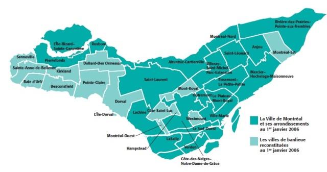 arrondissements Montreal