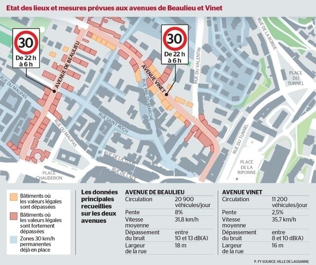 Lausanne zone 30 nocturne